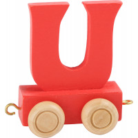Articulo bebe - Tren de Letras - Letra U roja - 5x3.5x6 cm