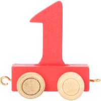Articulo bebe - Tren de Letras y Numeros - Numero 1 - 5x3x6 cm