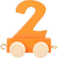 Articulo bebe - Tren de Letras y Numeros - Numero 2 - 5x3x6 cm