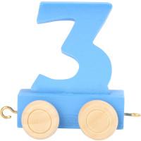 Articulo bebe - Tren de Letras y Numeros - Numero 3 - 5x3x6 cm