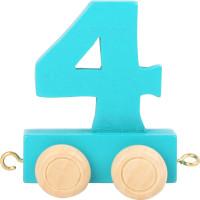 Articulo bebe - Tren de Letras y Numeros - Numero 4 - 5x3x6 cm