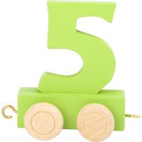 Articulo bebe - Tren de Letras y Numeros - Numero 5 - 5x3x6 cm