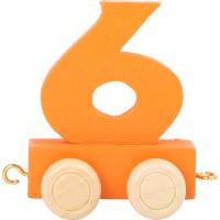 Articulo bebe - Tren de Letras y Numeros - Numero 6 - 5x3x6 cm