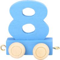 Articulo bebe - Tren de Letras y Numeros - Numero 8 - 5x3x6 cm