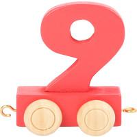 Articulo bebe - Tren de Letras y Numeros - Numero 9 - 5x3x6 cm