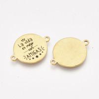 La vida es mejor con amigas - Entrepieza acero inoxidable dorado 21.5x16 mm, int 1.4 mm