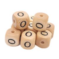 Cubo letra madera carvada Premium 10x10 mm (TIMES) - Letra O