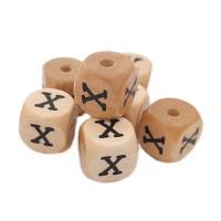 Cubo letra madera carvada Premium 10x10 mm (TIMES) - Letra X