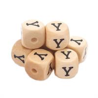 Cubo letra madera carvada Premium 10x10 mm (TIMES) - Letra Y