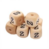 Cubo letra madera carvada Premium 10x10 mm (TIMES) - Letra Z