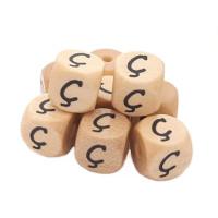 Cubo letra madera carvada Premium 10x10 mm (TIMES) - Letra Ç