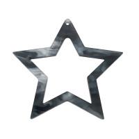 Colgante plexy estrella 60 mm gris perla