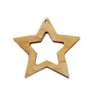 Colgante plexy estrella 40 mm dorado Gold