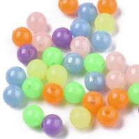 Abalorios bolas colores mix 6 mm BRILLAN en la oscuridad int 1.5 mm ( 100 uds mix)
