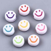 Abalorio caritas smiley sonrientes  7 mm, int 1.5 mm (50 uds)