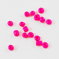 Rocalla cristal 6/0, 4 mm color Fucsia (25 gramos)