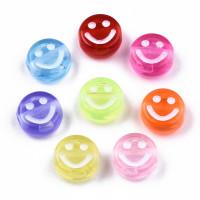 Abalorio caritas smiley sonrientes 10 mm, int 2 mm (30 uds)