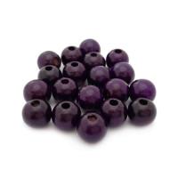 Bolsita 20 bolitas de madera antibaba 8 mm - Color Violeta oscuro 31