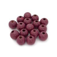 Bolsita 20 bolitas de madera antibaba 10 mm - Color Violeta 32