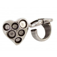 Base anillo ZAMAK plata Modelo corazon 32x32x30 mm