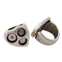 Base anillo ZAMAK plata Modelo corazon pequeño 26 mm (Talla  17)