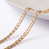 Cadena dorada acero inoxidable eslabones curb 5x3 mm- 1 metro