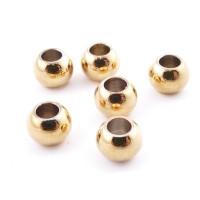 10 uds- Bola de acero dorado inoxidable 6 mm Taladro 3 mm