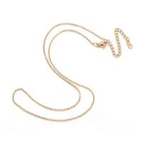 Cadena collar gargantilla acero dorado eslabon oval 1.5 mm - 44 cm + 7 cm extendedora