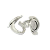 Base anillo Zamak baño plata para cristal 14x10 mm