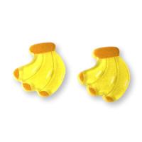 Platanos 25 mm -Aplique resina fruta y verdura - 1 unidad