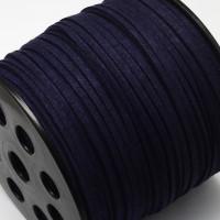 Cordón de antelina 2.5 mm azul marino  (1 metro)
