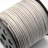 Cordón de antelina 3 mm gris  ( 1 metro)