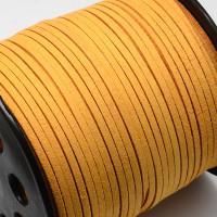 Cordón de antelina 2.5 mm amarillo mostaza (1 metro)