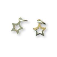 Colgante Plata de Ley  - Estrella hueca 6 mm