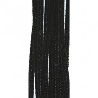 Limpiapipas grueso color negro 5 mm, 30 cm ( 50 uds)