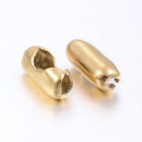 Cierre de acero DORADO para cadena bolitas de 1.5 mm - 5 uds
