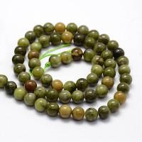 Hilera bolas de gema Jade 4 mm verde ( 90 pcs aprox.)
