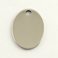 Chapa acero inoxidable placa oval para grabar 30x22 mm, int 3 mm