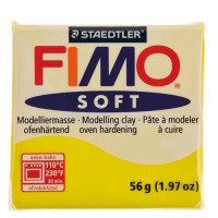 Fimo Soft pastilla 56 gramos color AMARILLO LIMON 010