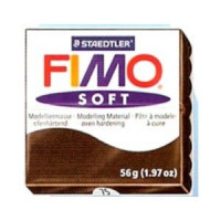 Fimo Soft pastilla 56 gramos color CHOCOLATE 75
