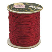 Bobina de cordon de nylon 0.8 mm macrame granate ( 120 m)