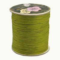 Bobina de cordon de nylon 0.8 mm macrame verde oliva ( 120 m)