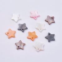 Estrellas de nacar 12 mm - Colgantes ( 10 uds)