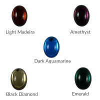 Cristal ovalado 25x18 mm para piezas de zamak - Amethyst