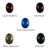 Cristal ovalado 25x18 mm para piezas de zamak - Black Diamond