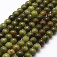 Hilera bolas de gema Jade 6 mm verde ( 60 pcs aprox.)