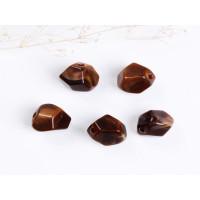 Pepita  acrilica efecto marmol 12x11 mm.Tala 2.4 mm. Marrón 5uds