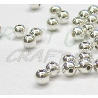 Bola plateada brillante 6 mm (100 uds)