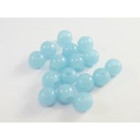 Bola acrilica color azul 8 mm, int 3 mm - 20 uds