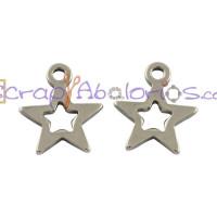 Colgante acero inoxidable silueta estrella 10x9 mm Talad 1mm